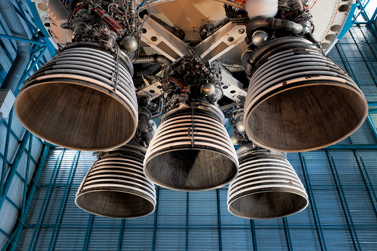 Space rocket thrusters